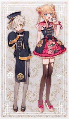 @abandonrnk: アバンドン蘭花 2019-05-18 14:32中華風な五虎退と乱 Manga Art, Manga Anime, Anime Art, I Love Anime, Anime Guys, Character Art, Character Design, Neko, Fantasy Dress