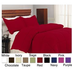 Microfiber Down Alternative Polyester Fill 3-piece Comforter and Sham Set | Overstock.com   starting from $39.99
