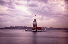 Maiden's Tower - İstanbul, Night, Maiden's Tower, Mosques