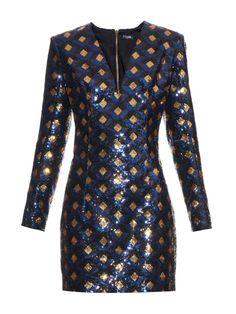 All-over sequined mini dress | Balmain | MATCHESFASHION.COM