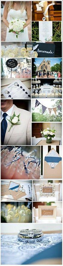 navy blue details, #weddings