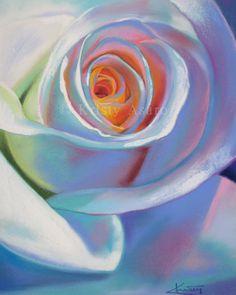 Rose Pastel Print 8 x 10 by PastelsByKristy on Etsy, $25.00