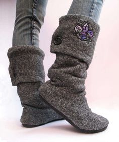 upcycled DYI Sweater Boots. Comfy, cozy and an endles choice of patterns .