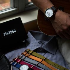 PARSONII WATCH. One watch to wear multiple ways! It\'s elegant, stylish, practical, and adjustable with interchangeable bands to match your style!
