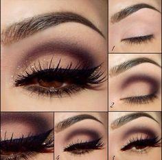 Mooie subtiele glitter make-up