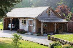 Radnor Oak - The Byton Low-Ridge - Double Garage with workshop - log store - Oak Framed Garage - Oak building