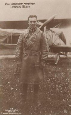 Lt. Blume with Fokker  D.VII
