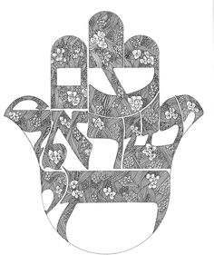Am Israel Chai! This hamsa I like, for the words and design only.