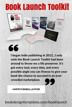 If you're planning to launch your book soon (or you've recently launched with rather dismal results...), now's the time to learn how to SUCCESSFULLY plan and execute your book launch by grabbing the Book Launch Toolkit – the price goes up TONIGHT!   http://authortoolkits.wpengine.com/booklaunchtoolkit/