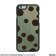 Black Dots On Blended SkyBlue Carved® Cherry iPhone 6 Slim Case