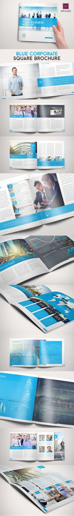 Blue Corporate Square Brochure