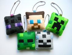 Minecraft Christmas Ornament/Keychain by Michelle Coffee