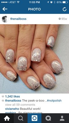 Nail art new year's nails, get nails, fancy nails, love nails, pretty nails New Year's Nails, Love Nails, Hair And Nails, Fancy Nails, Trendy Nails, Prom Nails, Wedding Nails, Vegas Nails, Glitter Wedding