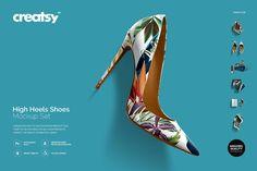 High Heels Shoes Mockup Set - Product Mockups