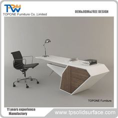 2017 New Design Modern Manager Executive Desk Office Table Design Office Table Design, Office Furniture Design, Office Interior Design, Office Interiors, Design Desk, Office Designs, Executive Office Furniture, Modern Office Desk, Desk Office