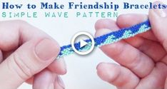 Simple Wave Pattern How to Make Friendship Bracelets – Diy Bracelets İdeas. Yarn Bracelets, Diy Bracelets Easy, Summer Bracelets, Bracelet Crafts, Dainty Bracelets, Summer Jewelry, Ankle Bracelets, Chevron Armband, Chevron Bracelet