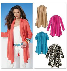 open drape cardigan sewing pattern