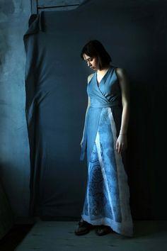 Blue Sleeveless Dress,  Denim Sun Dress, Maxi Dress, Oversized Dress,  Long sundress, Blue Wrap Dress, Boho Dress by ZoeBoFashion on Etsy