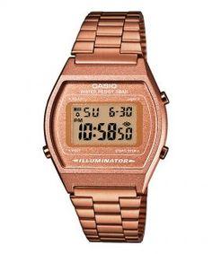 b71ae1c18fc Casio Collection Retro Relógio Mulher Homem B640WC-5AEF Relogio Ouro Rose