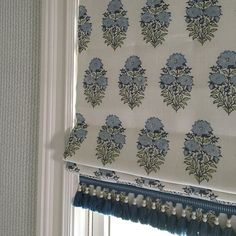 Classic Roman Shade with trim