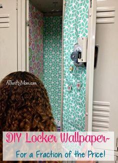 diy locker wallpaper for a fraction of the cost, #diy,