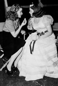 Bonita Granville & Judy Garland