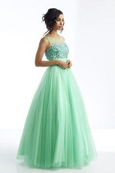 A-Linie U-Ausschnitt Bodenlang Tülle Kleid - $156.99