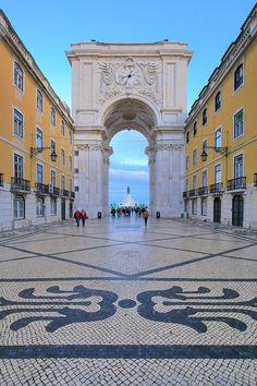 Rua Augusta Arch in Lisbon, Portugal.