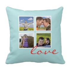 9 Sweet and Thoughtful Valentine's Day Gift Ideas for Couples — Kathln. Photo Collage on Pillow.