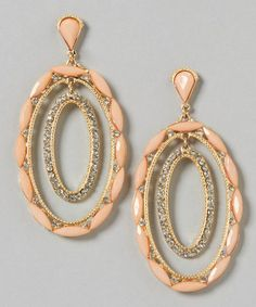 Sale $19.99 Reg. $72.00  Peach & Gold Luna Drop Earrings by Guinevere and Co Jewelry ~ more colors