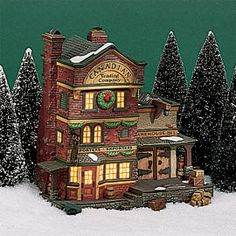 """Department 56: Products - """"Canadian Trading Co."""" - View Lighted Buildings"""