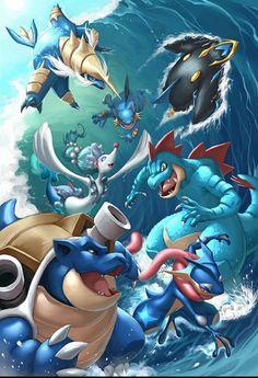 Hydro Pump by Quirkilicious on DeviantArt - Pokemon Ideen Pokemon Go, Pokemon Serie, Memes Do Pokemon, Pokemon Legal, Water Type Pokemon, Pokemon Fusion, Pokemon Fan Art, All Pokemon Cards, Pokemon Blastoise