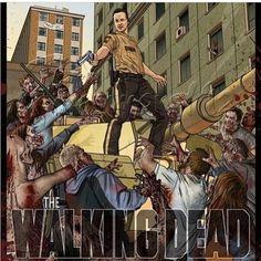 BACK I SAY!! Rick Grimes - Streets of Atlanta - Fan Art - Season 1 #TWD