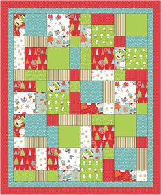 This is a fun easy Christmas quilt using a method that is so clever and fun you will do many more quilts this way in the future. Quilting Tutorials, Quilting Projects, Quilting Designs, Sewing Projects, Quilting Ideas, Mccall's Quilting, Quilts Using Fat Quarters, Easy Quilt Patterns, Fat Quarter Quilt Patterns