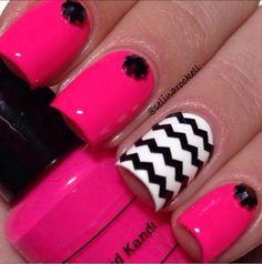 nail design pink, diseno de unas rosado