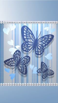 Blue and silver Flowery Wallpaper, Matching Wallpaper, Butterfly Wallpaper, Wallpaper Backgrounds, Iphone Wallpaper, Daisy Background, Pretty Wallpapers, Pink Love, Beautiful Butterflies
