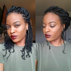 TOP 28 Hot Kinky Twists Hairstyles on Short and Long Hair for African Woman 2018 Kinky Twist Styles, Braid Styles, Short Marley Twists, Natural Hair Twists, Pelo Natural, Natural Twist Hairstyles, Marley Twist Hairstyles, Braid Out, Braided Updo