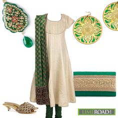 Sujata Biswas does elegance in green so beautifully.  Here's where you can take a closer look at this fabulous look by her.