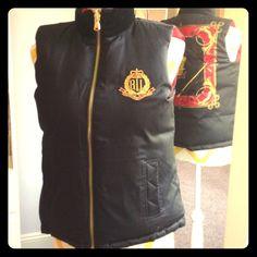Ralph Lauren reversible vest Lauren Ralph Lauren red and black reversible vest. Gold hardware, black velvet collar on black side. Ralph Lauren Jackets & Coats Vests