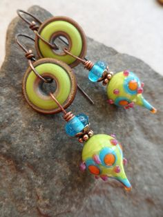 Amused ... Artisan-Made Lampwork and Sterling by juliethelen