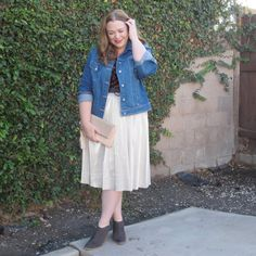 Metallic Skirt: Styled Four Ways for Daytime | Designing From My Closet