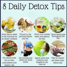 Daily detox tips