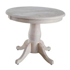 Marvelous Unfinished Round Pedestal Table, Farmhouse Style, DIY Project, Kitchen Table