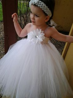 Flower Girl Tutu Tulle Dress