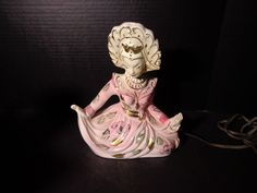 0-     TV LAMP  BALI Dancer  - vintage ceramic electric-