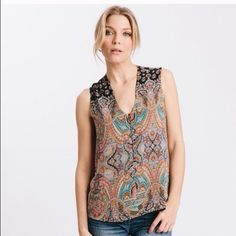 ❗️FLASH SALE❗️Karen Zambos Nepal Abbot Top ❗️FLASH SALE ENDS TONIGHT AT 11:59 p.m.❗️From notable designer Karen Zambos.  Known for having a huge celebrity following, her line is a perfect blend of vintage & contemporary style.  This piece perfectly pairs with boho accessories.  Material:  100% Poly.  1st & 3rd photos courtesy of Karen Zambos.  Price is firm unless bundled.   Karen Zambos Tops