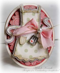 Baked With Love.....adorable apron card