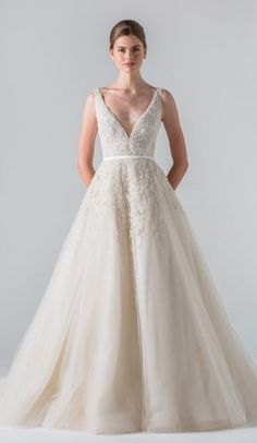 Ball Gown Wedding Dresses : Featured Wedding Dress:Anne Barge;www.annebarge.com; Wedding dress idea.