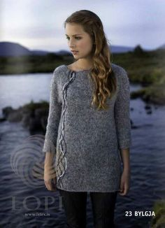 - Icelandic Bylgja Women Wool Sweater Grey - Tailor Made - Nordic Store Icelandic Wool Sweaters  - 1