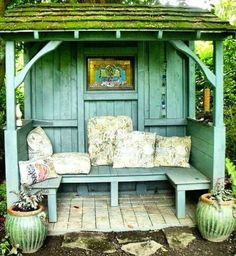 Garden Shed with sitting porch.